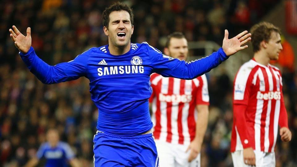 Cesc Fabregas inspires Chelsea to win at Stoke