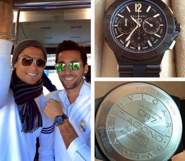 Cristiano Ronaldo Gives N1.8m 'La Decima' Watch To All His Real Madrid Team-Mates
