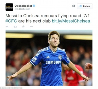 Chelsea prepares £200m to buy Messi as he follows the club on Instagram
