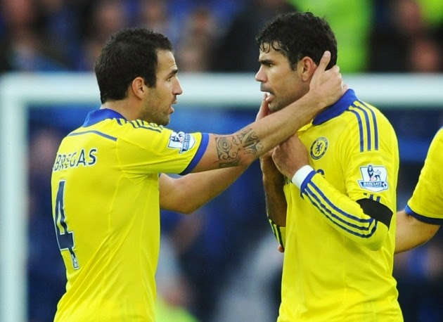 Costa out, Fabregas doubtful for title showdown with Man City