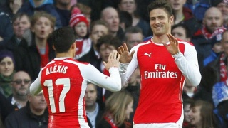 Olivier Giroud Double Sends Arsenal to FA Cup Q/Finals