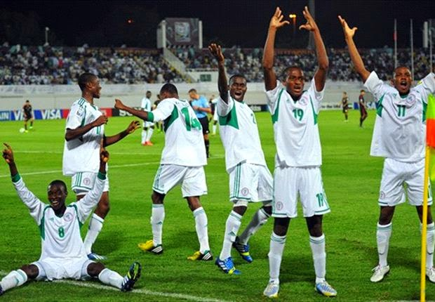 Flying Eagles Fly Over Black Satellites In A Friendly Match