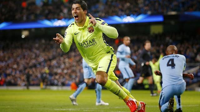 Luis Suarez Strikes Twice As Barcelona Sink Manchester City