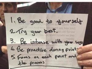 Andy Murray's motivational note: 'Try your best'