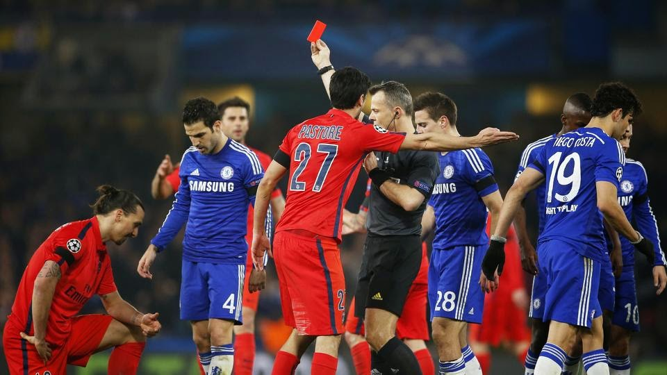 Zlatan's Red Card Against Chelsea Stands – UEFA