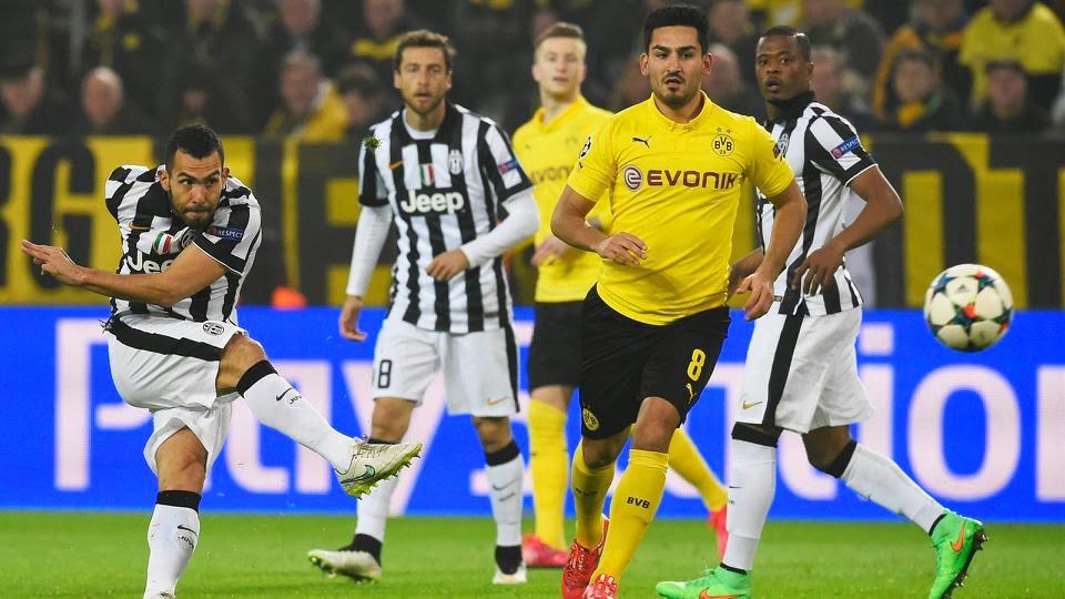 Carlos Tevez Inspires Juventus Past Dortmund