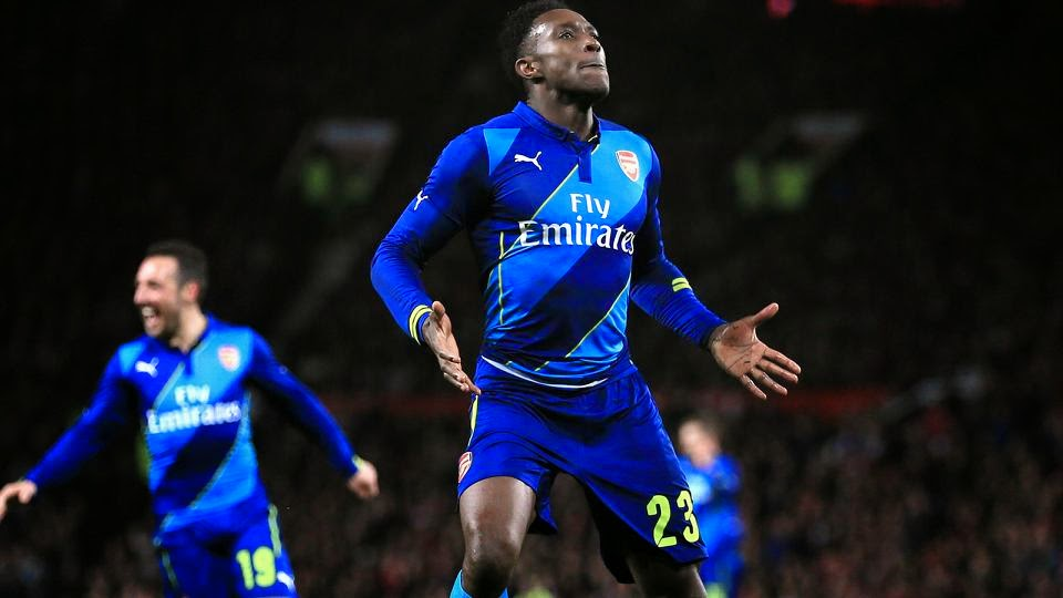 Di Maria Sent Off, Welbeck Scores Winner As Arsenal Beat Manchester United