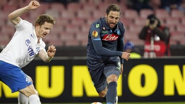 Higuain lifts Napoli