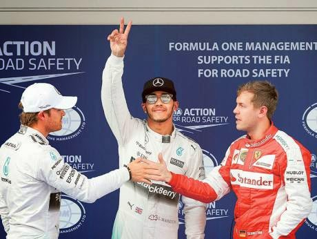 Hamilton Defeats Team Mate, Rosberg To Qualify For Chinese Grand Prix