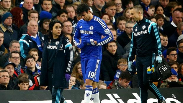 Diego Costa To be Sidelined For Two weeks Over Hamstring Injury