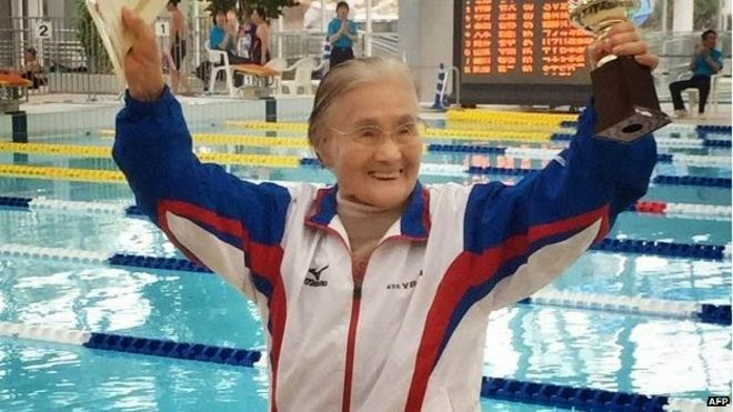 100-Year-Old Japanese Swimmer Sets 1,500m Record