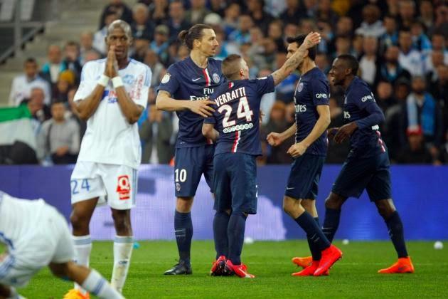 PSG Defeats Marseille To Top Ligue 1