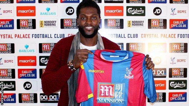 Crystal Palace January signing,  Emmanuel Adebayor