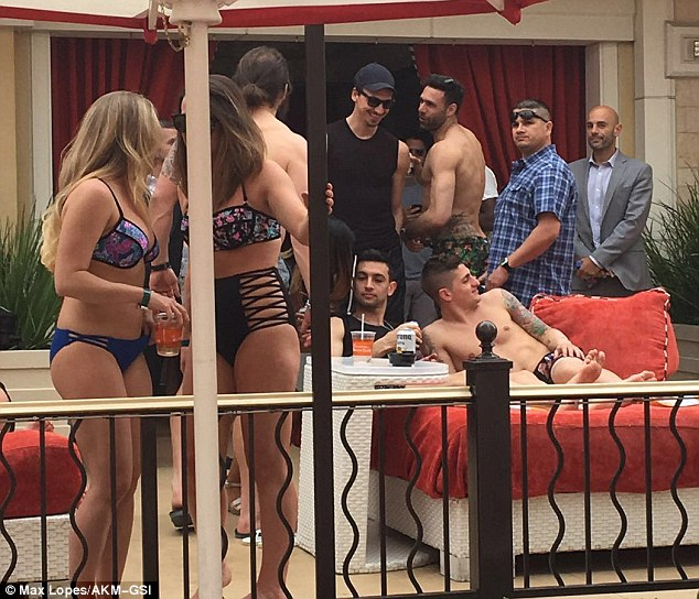 PSG stars Zlatan Ibrahimovic, Marco Verratti and Javier Pastore celebrate French League Cup with bikini-clad women in Las Vegas,,