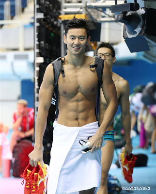Chinese Swimmer In High Demand At The Olympics Over His Good Looks. Photo
