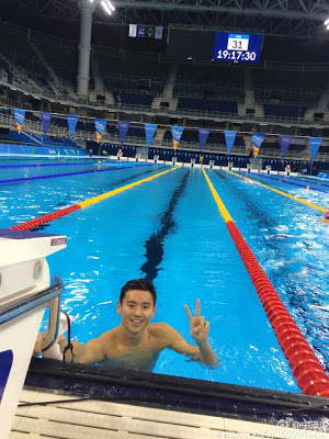 Chinese Swimmer In High Demand At The Olympics Over His Good Looks. Photoss